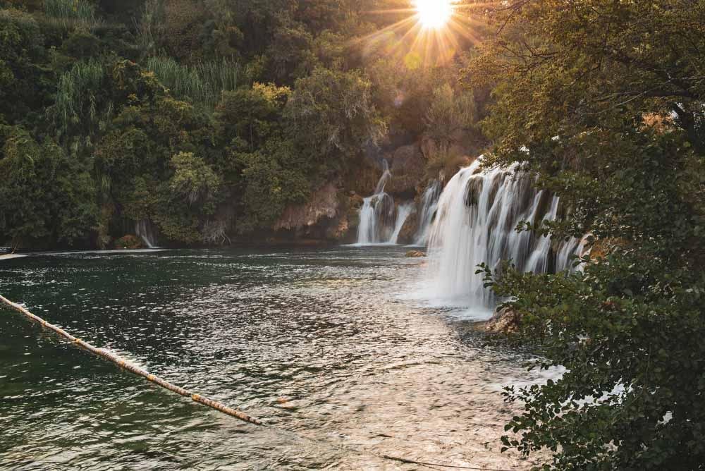Amazing waterfalls at Krka National Park in Croatia