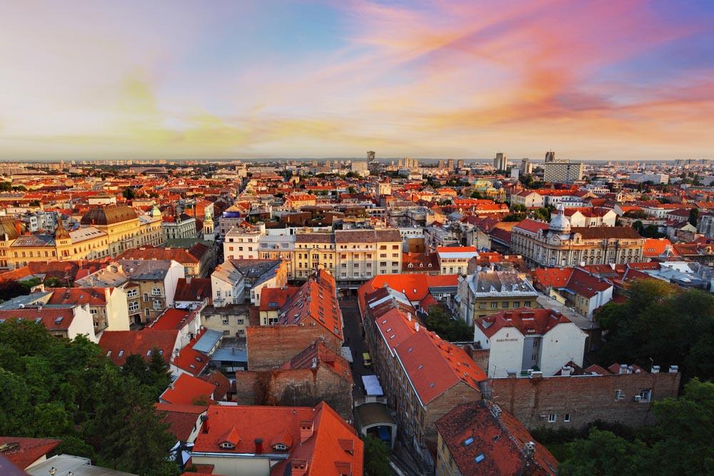 Zagreb city in Croatia