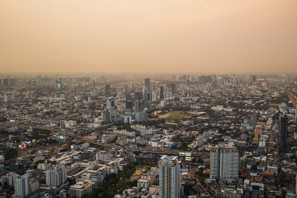 Views of Bangkok in Baiyoke Sky Hotel, Thailand's Tallest Tower